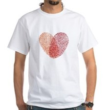 Red fingerprint heart T-Shirt