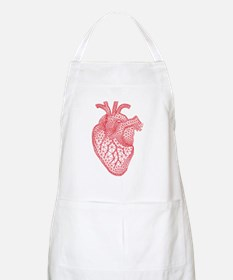 Abstract red heart Apron