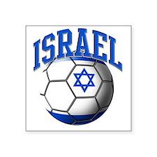 "Flag of Israel Soccer Ball Square Sticker 3"" x 3"""