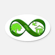 Permaculture Oval Car Magnet