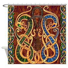 Harvest Moon's Viking Dragons Shower Curtain
