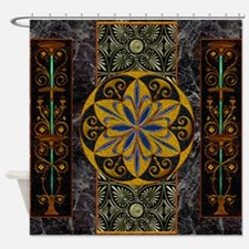 Harvest Moon's Pompeii Columns Shower Curtain