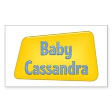 Baby Cassandra Rectangle Decal