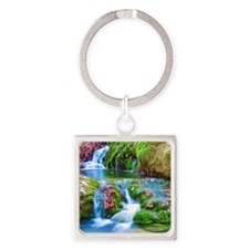 Mountain Brook Square Keychain