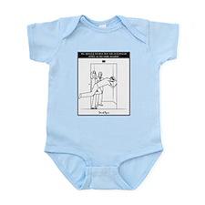 An opening elevator door... Infant Bodysuit