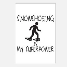 SNOWSHOEING is My Superpower Postcards (Package of
