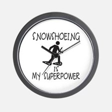 SNOWSHOEING is My Superpower Wall Clock