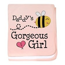 Bumble Bee Daddys Girl baby blanket
