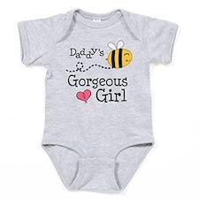 Bumble Bee Daddys Girl Baby Bodysuit
