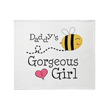 Bumble Bee Daddys Girl Throw Blanket