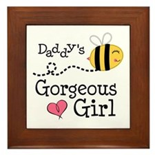 Bumble Bee Daddys Girl Framed Tile