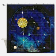 Harvest Moons Solar System Shower Curtain