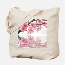 Flowers Water Reflection Tote Bag