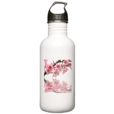Flowers Water Reflection Water Bottle