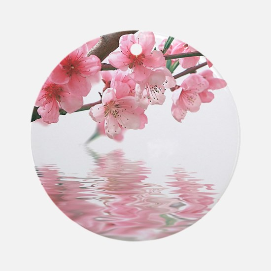 Flowers Water Reflection Ornament (Round)