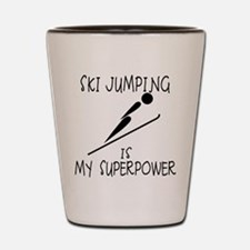 SKI JUMPING is My Superpower Shot Glass