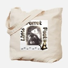 Little Ferret Feet Tote Bag