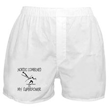 NORDIC COMBINED is My Superpower Boxer Shorts