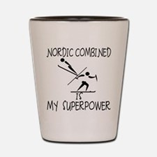 NORDIC COMBINED is My Superpower Shot Glass