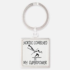 NORDIC COMBINED is My Superpower Square Keychain