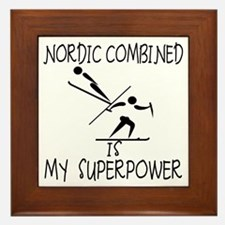 NORDIC COMBINED is My Superpower Framed Tile