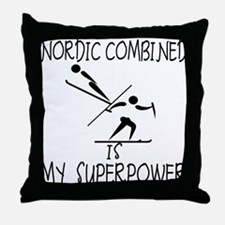 NORDIC COMBINED is My Superpower Throw Pillow