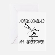 NORDIC COMBINED is My Superpower Greeting Cards (P