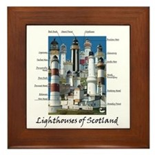 Scotland Lighthouses Framed Tile