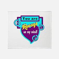 Always On My Mind-Willie Nelson Throw Blanket