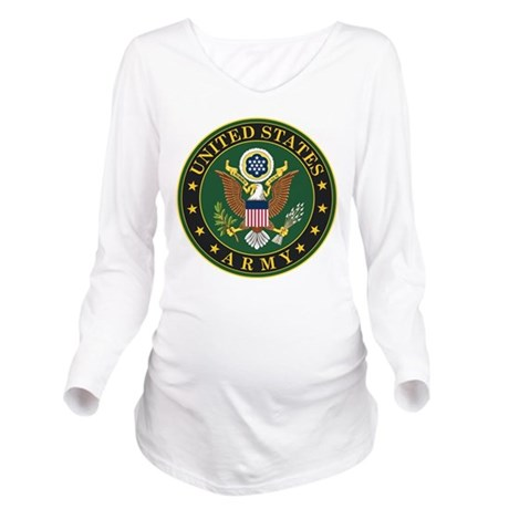 US Army Symbol Long Sleeve Maternity T-Shirt