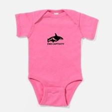 Save The Orcas - Captivity Kills Baby Bodysuit