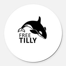 Free Tilly Round Car Magnet