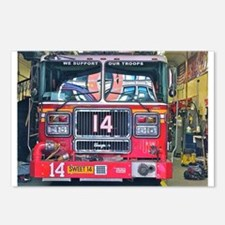 Big Red Fire Truck Postcards (Package of 8)
