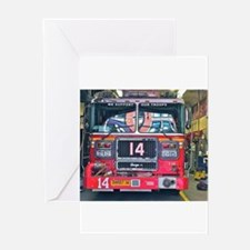Big Red Fire Truck Greeting Cards