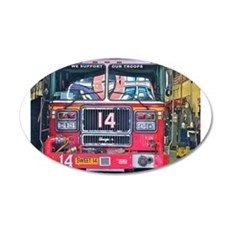 Big Red Fire Truck Wall Decal