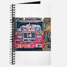 Big Red Fire Truck Journal
