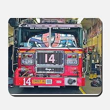 Big Red Fire Truck Mousepad