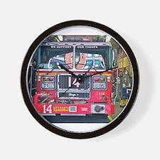 Big Red Fire Truck Wall Clock