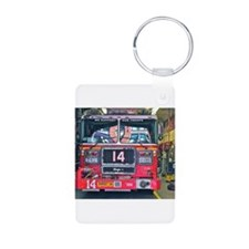 Big Red Fire Truck Keychains