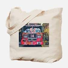 Big Red Fire Truck Tote Bag