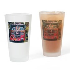 Big Red Fire Truck Drinking Glass