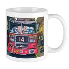 Big Red Fire Truck Mugs