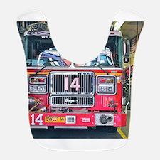 Big Red Fire Truck Bib