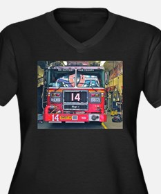 Big Red Fire Truck Plus Size T-Shirt