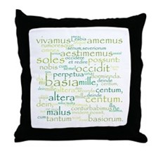 Catullus Green Throw Pillow