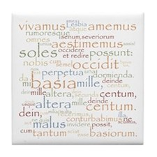 Catullus Ancient Colors Tile Coaster