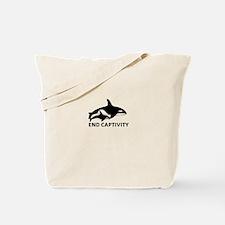 Save the Orcas - captivity kills Tote Bag