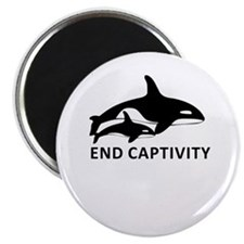 Save the Orcas - captivity kills Magnets
