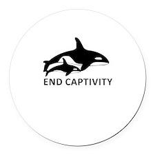 Save the Orcas - captivity kills Round Car Magnet