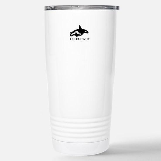 Save the Orcas - captivity kills Travel Mug